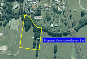 Council Plan of proposed community garden